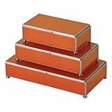 Gaspar Rectangular Box Trio | Orange
