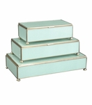 Gaspar Rectangular Box Trio | Seafoam