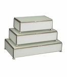 Gaspar Rectangular Box Trio | White