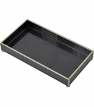 Gaspar Small Glass Tray | Black