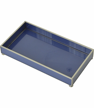 Gaspar Small Glass Tray | Blue