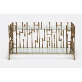 Gaudi Brass Console Table