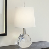 Gem Crystal Table Lamp | Clear & Nickel