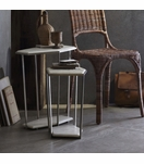 Geometric Side Tables | Nickel & Marble