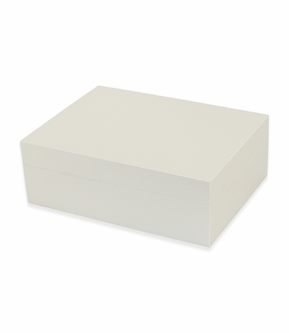 Gianni Lacquer Box   Ivory