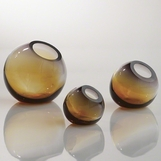 Giselle Ball Vases | Grey-Amber