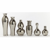 Glint Assorted Vases Set | Silver