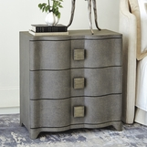 Greta Linen Bedside Chest | Grey