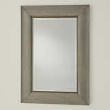 Greta Linen Rectangular Mirror | Grey