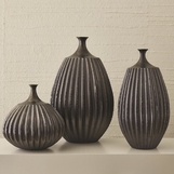 Grillo Ceramic Vases | Dark Grey