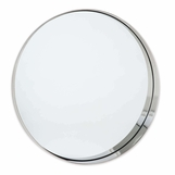 Gunner Round Mirror | Nickel