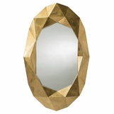 Gwen Gold Faceted Mirror