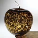 Gwyneth Art Glass Apple Sculpture