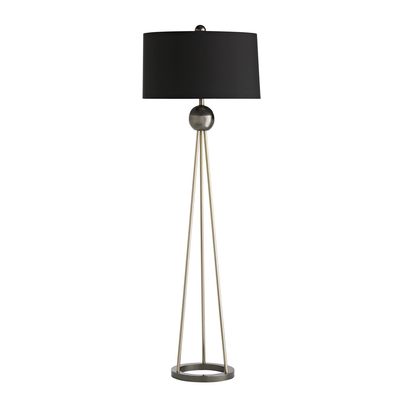 Haley Br Silver Floor Lamp Black