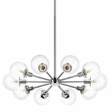 Halo Chrome & Glass Chandelier
