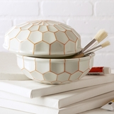 Hari Porcelain Box | White & Orange