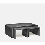 "Harley ""Shagreen"" Nesting Coffee Tables 