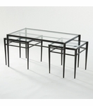 Harper Bronzed Nesting Coffee Table