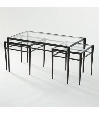 Harper Bronzed Nesting Cocktail Table