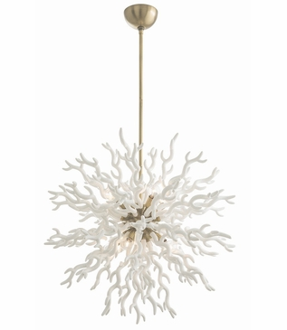 Hasina Grand Chandelier | White & Brass