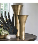 Hawley Vases | Antique Brass