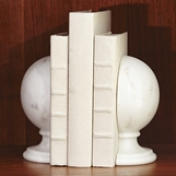 Hemisphere Marble Bookends