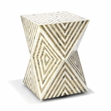 Herbert Geometric Bone Stool