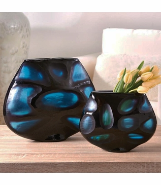 Hewed Blue Vases Set