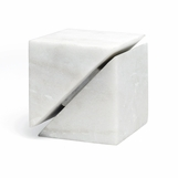 Hiro Geometric Object | White Marble