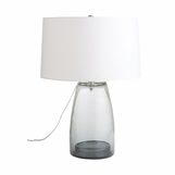 Jamal Grey Glass Table Lamp