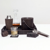 Houston Hide Bar Set | Brown