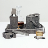 Houston Hide Bar Set | Grey