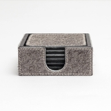 Houston Hide Coasters | Grey