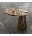 Hover Stone Side Table | Brown Tiger