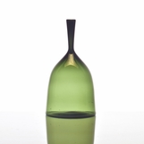 Hues Glass Bell Vase | Fern