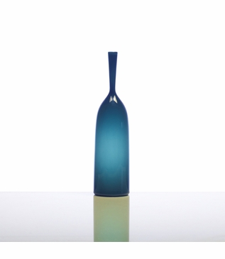 Hues Glass Bottle Vases   Opaque Teal