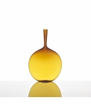 Hues Glass Flask Vase | Amber