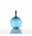 Hues Glass Flask Vase | Blue