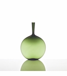 Hues Glass Flask Vase | Fern