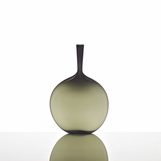 Hues Glass Flask Vase | Grey