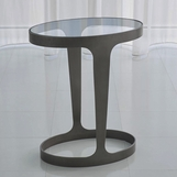 Hughes Oval Side Table | Bronze