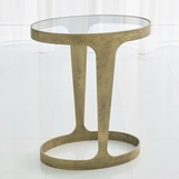 Hughes Oval Side Table | Gold