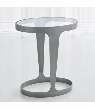 Hughes Oval Side Table | Iron