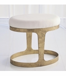 Hughes Oval Stool | Gold