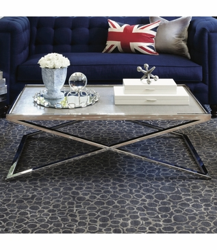 Hunter Coffee Table, Recessed Top