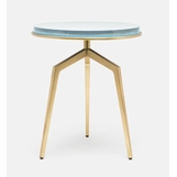 Hypol Side Tables | Gold & Aqua