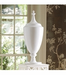Imperial Ceramic Jar | White