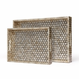 Interlocking Capiz Trays Set