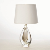 Jada Short Glass Lamp | Amber