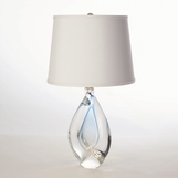 Jada Short Glass Lamp | Blue